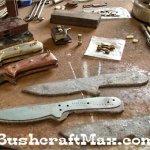 Bench grinder and buffer belt sander grinder for bushcraft knife making