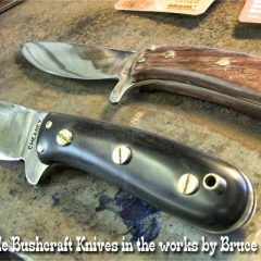 Bushcraft knife handles